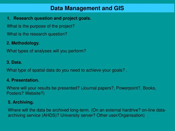 Data Management and GIS