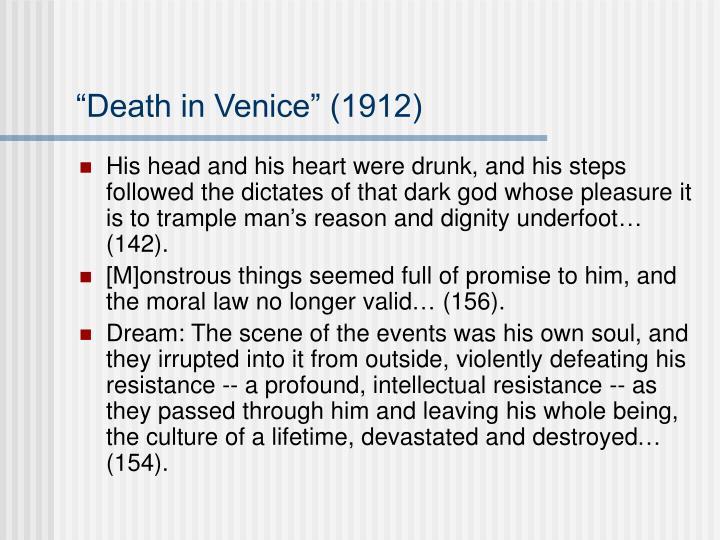 """""""Death in Venice"""" (1912)"""