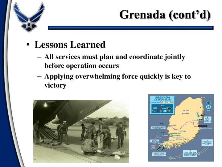 Grenada (cont'd)