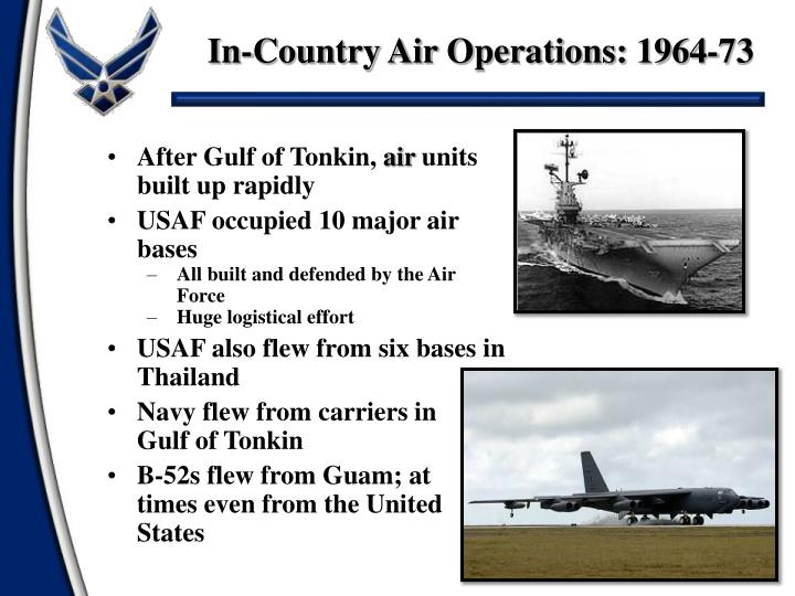 In-Country Air Operations: 1964-73