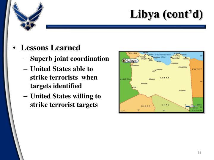 Libya (cont'd)