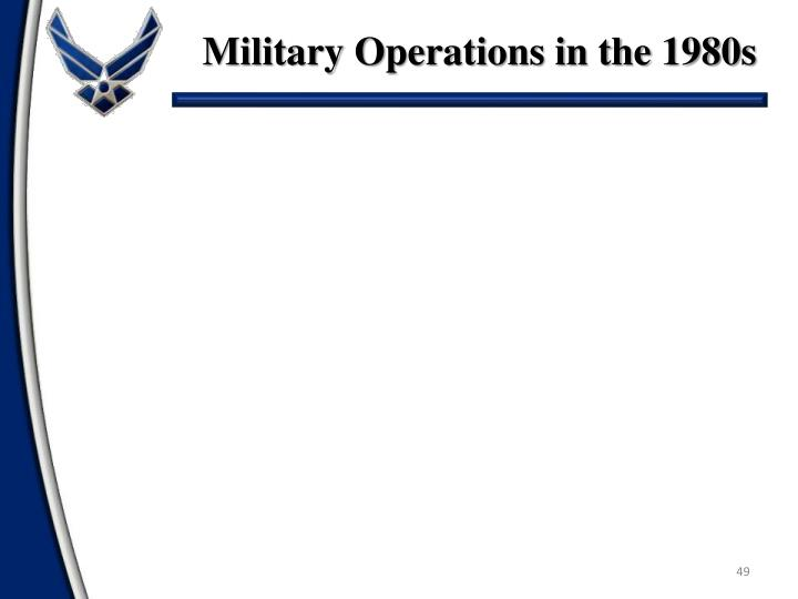 Military Operations in the 1980s
