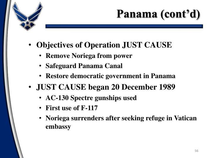 Panama (cont'd)