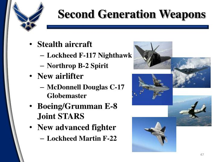 Second Generation Weapons