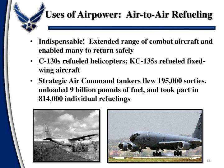 Uses of Airpower:  Air-to-Air Refueling
