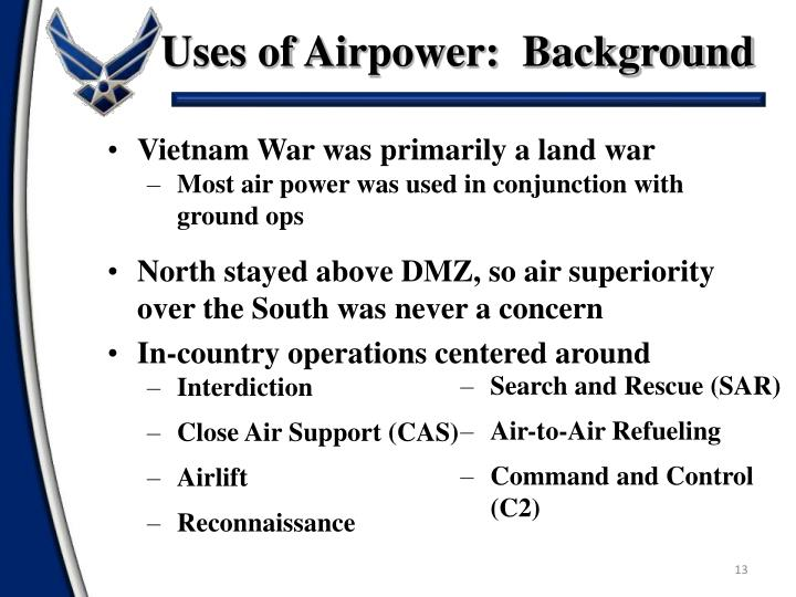 Uses of Airpower:  Background
