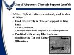 uses of airpower close air support cont d