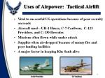 uses of airpower tactical airlift