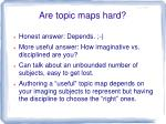 are topic maps hard