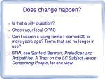 does change happen