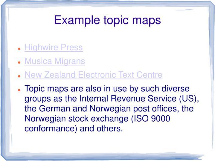 Example topic maps