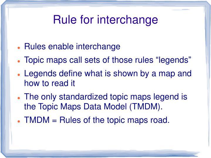 Rule for interchange