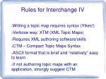 rules for interchange iv