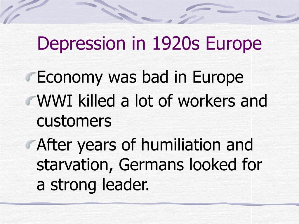 Depression in 1920s Europe