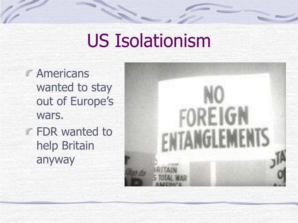 US Isolationism