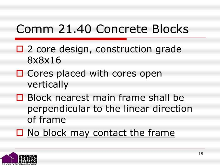 Comm 21.40 Concrete Blocks
