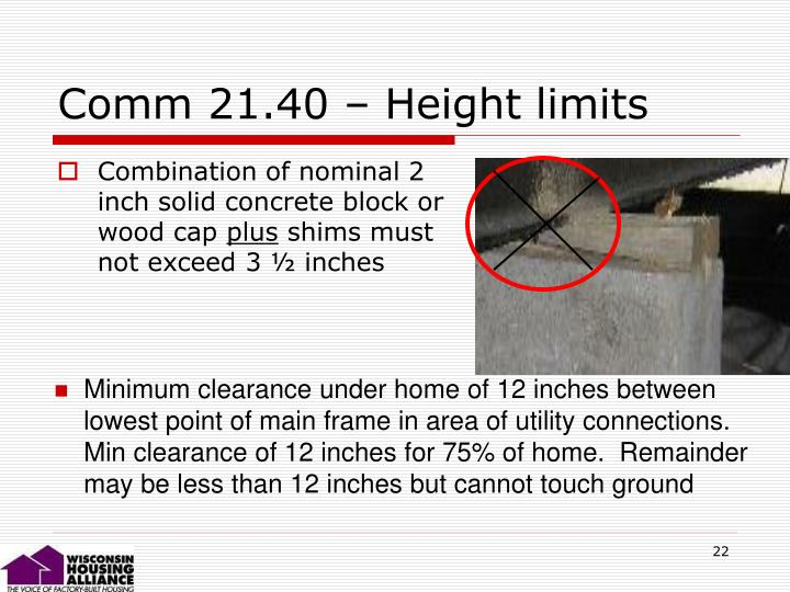 Comm 21.40 – Height limits