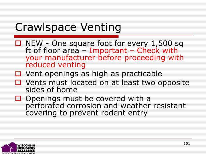 Crawlspace Venting