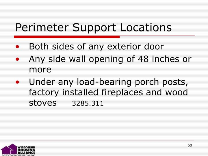 Perimeter Support Locations
