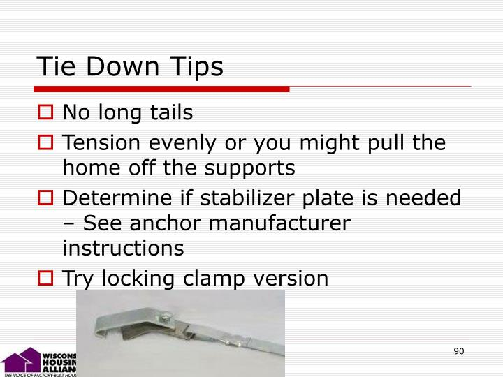 Tie Down Tips