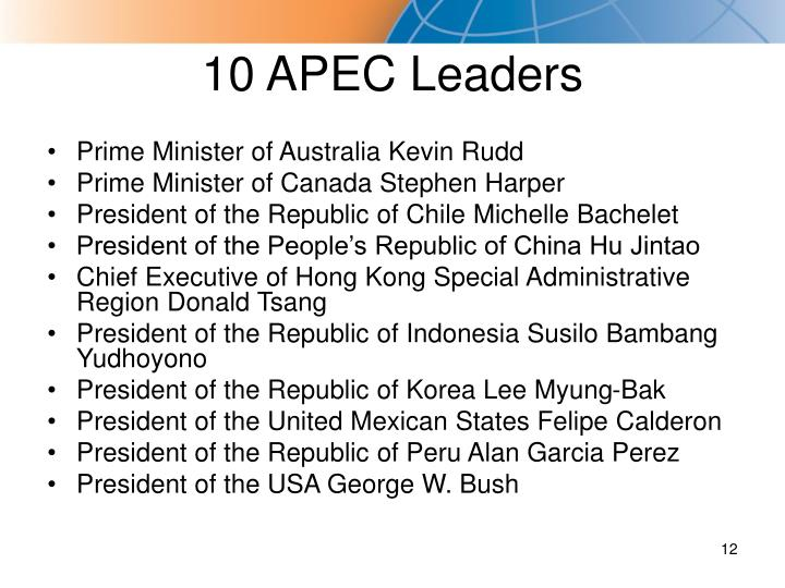 10 APEC Leaders