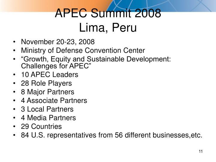 APEC Summit 2008