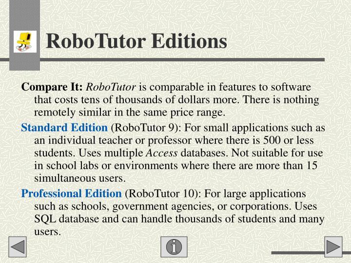RoboTutor Editions