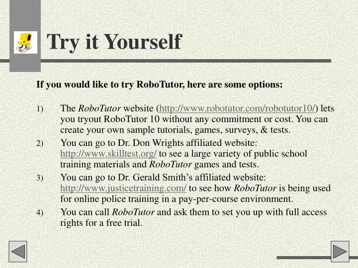 Try it Yourself