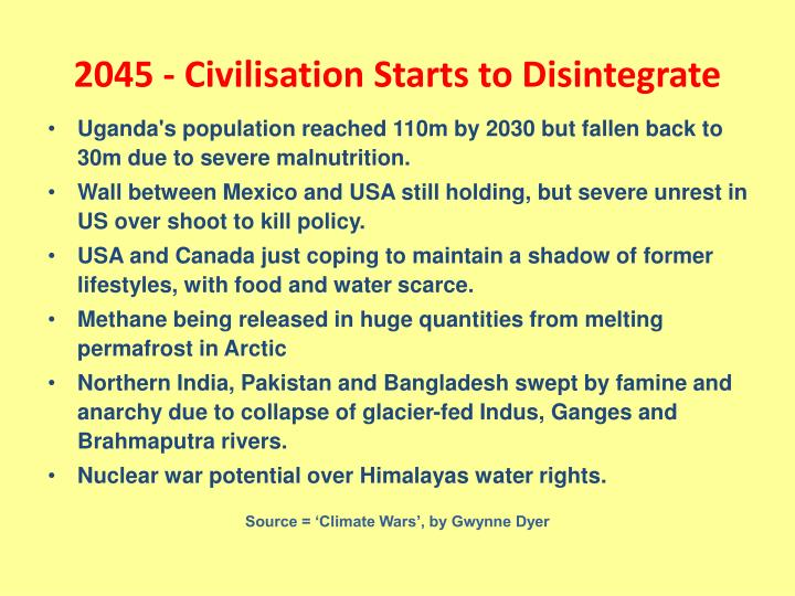 2045 - Civilisation Starts to Disintegrate