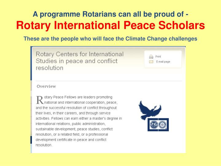 A programme Rotarians can all be proud of -