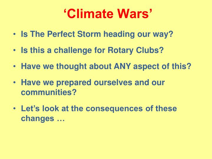 'Climate Wars'