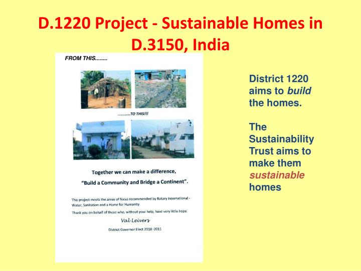 D.1220 Project - Sustainable Homes in D.3150, India