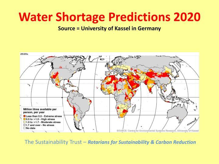 Water Shortage Predictions 2020