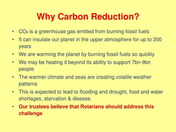 Why Carbon Reduction?