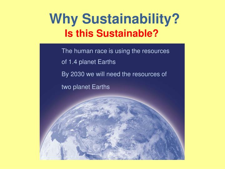 Why Sustainability?