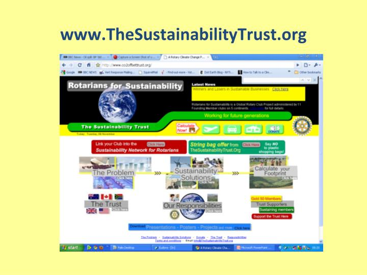 www.TheSustainabilityTrust.org