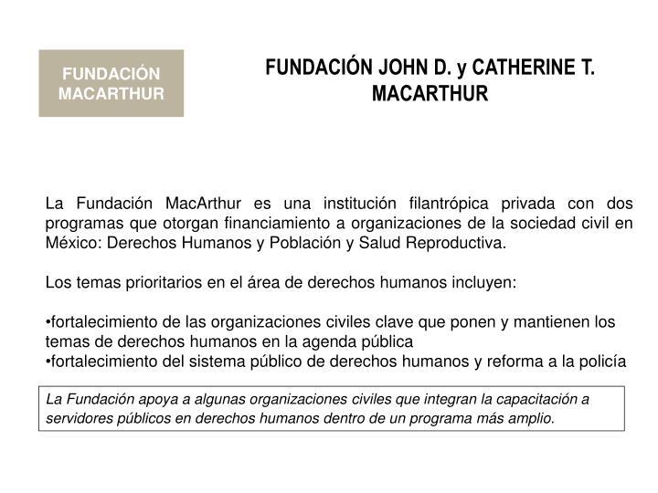 FUNDACIÓN MACARTHUR