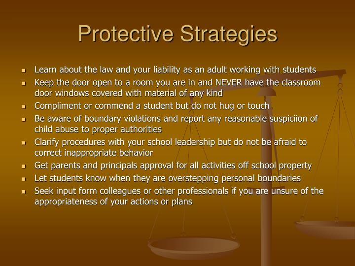 Protective Strategies