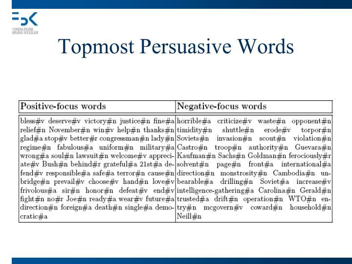 Topmost Persuasive Words