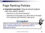 page ranking policies