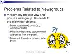 problems related to newsgroups