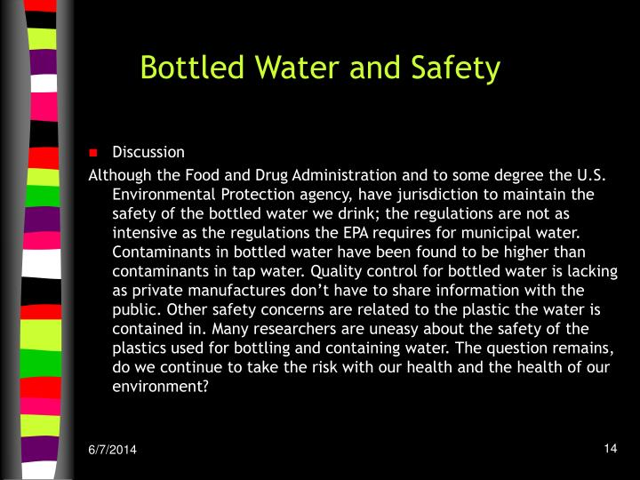 Bottled Water and Safety