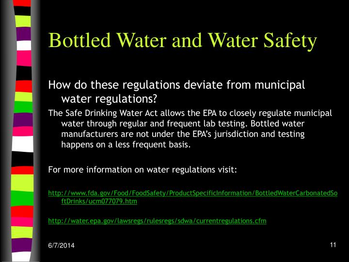 Bottled Water and Water Safety