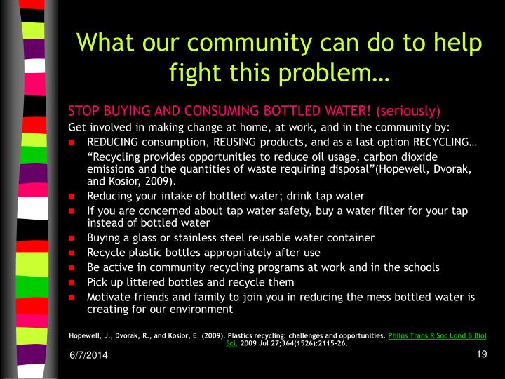 What our community can do to help fight this problem…