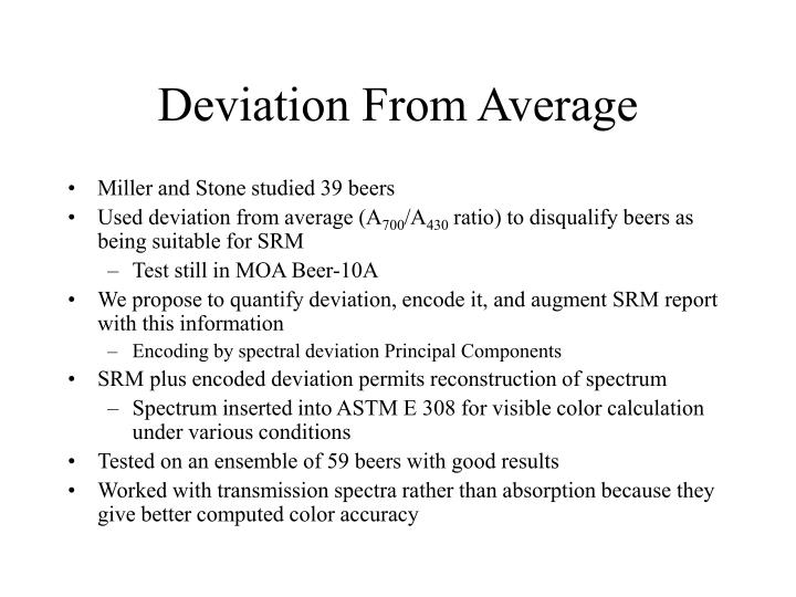 Deviation From Average