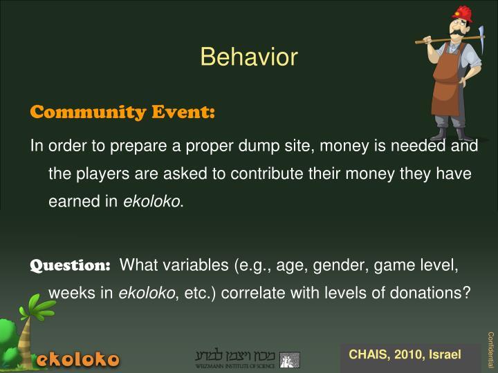 Community Event: