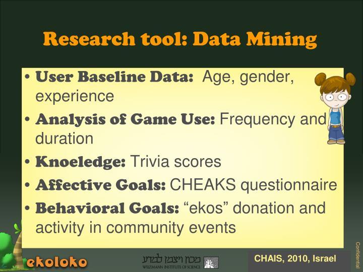 User Baseline Data: