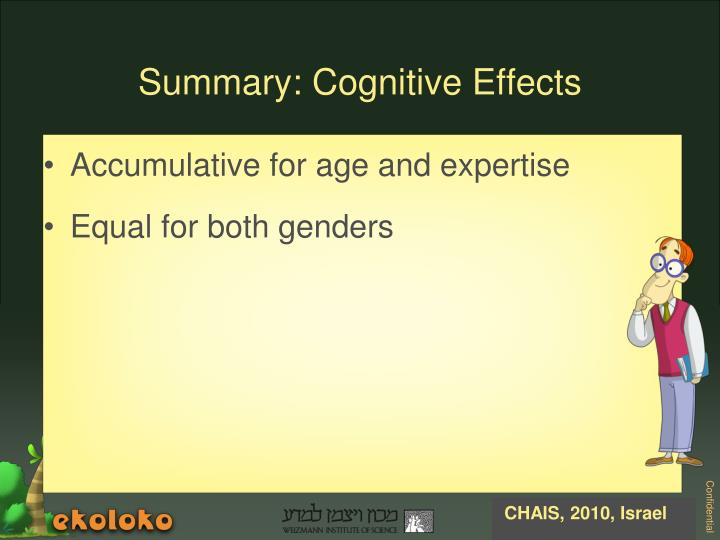 Accumulative for age and expertise