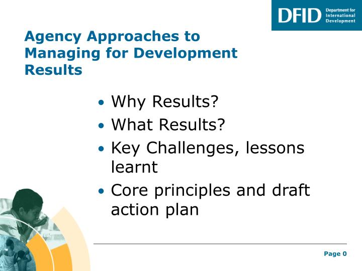 Agency approaches to managing for development results