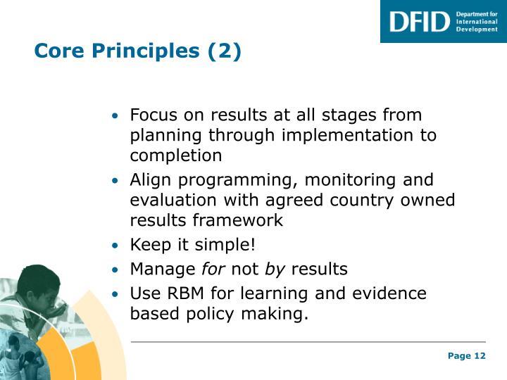 Core Principles (2)